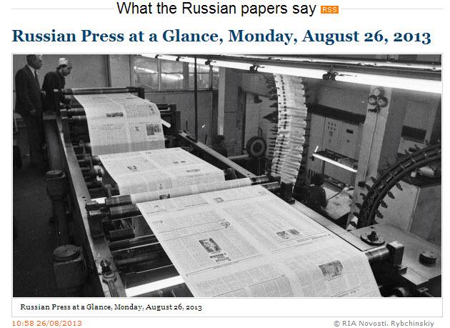 RIA-Novosti-Russian-Press-at-a-Glance_Monday-26-August-2013