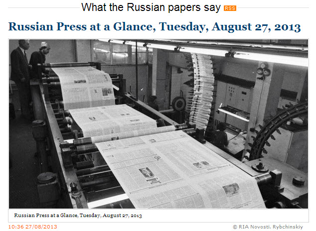 RIA-Novosti-Russian-Press-at-a-Glance_Tuesday-27-August-2013