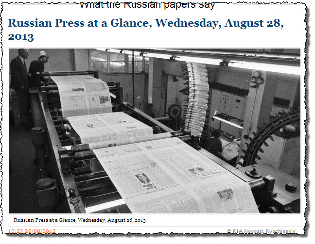 RIA-Novosti-Russian-Press-at-a-Glance_Wednesday-28-August-2013
