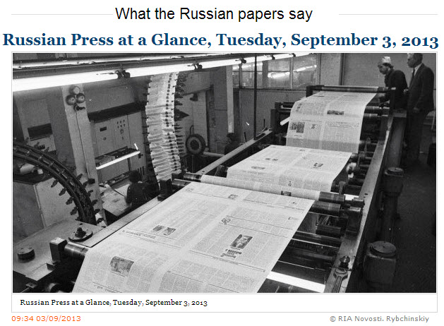 RIA-Novosti-Russian-Press-at-a-Glance-Tuesday-September-02-2013