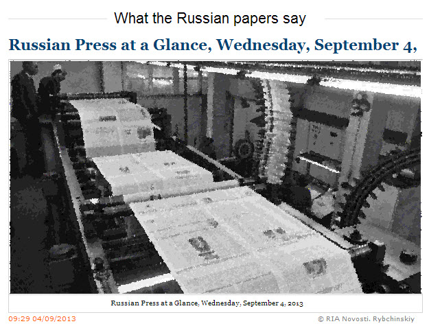 RIA-Novosti-Russian-Press-at-a-Glance_Wednesday-September-04-2013
