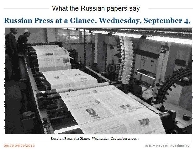 RIA-Novosti-Russian-Press-at-a-Glance_Wednesday-September-04-2013